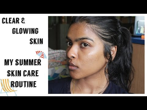 Clear & Glowing Skin Using Organic Products || My Summer Ski