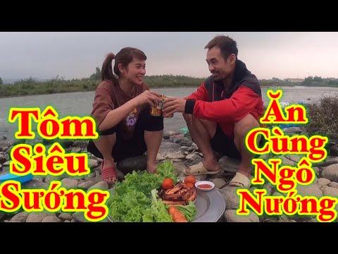 Vũ Vlog - Tôm Siêu Sướng Ăn Cùng Ngô Nướng