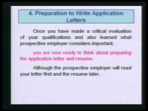 e_RMUTT Module 4 Objectives : Writing Application Letter 4/8