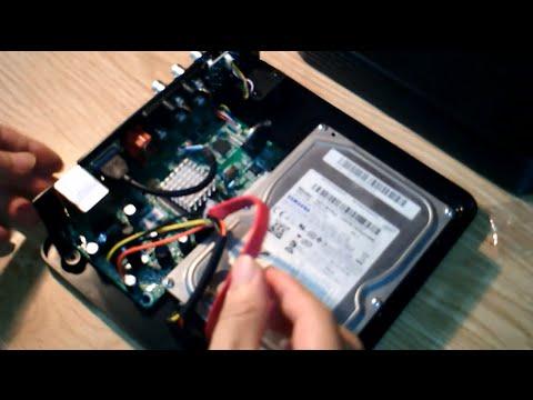 How to install hard disk for DVR 8CH Hybrid NVR DVR Video Recording system