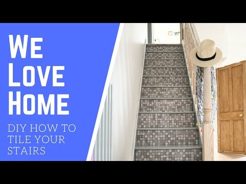 DIY How-to Tile Your Stairs // WE LOVE HOME