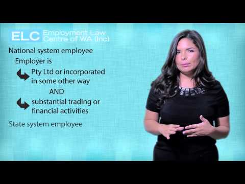 Employment Law in WA: 2. National system and state system employees