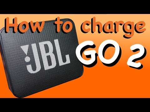 How to charge the JBL GO 2 battery