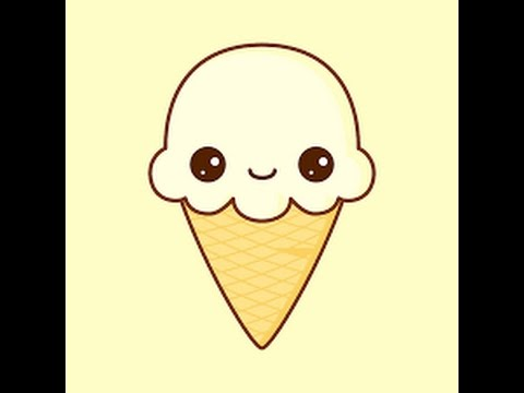 How to draw a cute ice cream - YouTube