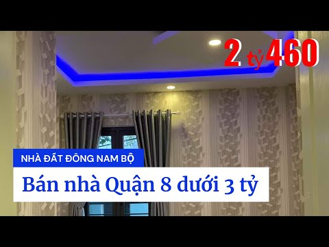 Chính chủ Bán nhà Quận 8 dưới 3 tỷ, Hẻm xe hơi đường Hưng Phú phường 8 Quận 8