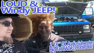 LOUD and WINDY Jeep! Big FAT BADASS Ported Box - 2 DC Audio Level 6 18