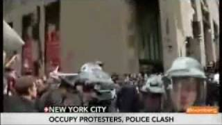 Occupy Wall Street protesters, police clash
