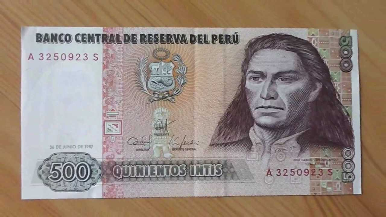 The 500 quinientos intis banknote of peru from 1987 youtube the 500 quinientos intis banknote of peru from 1987 thecheapjerseys Choice Image