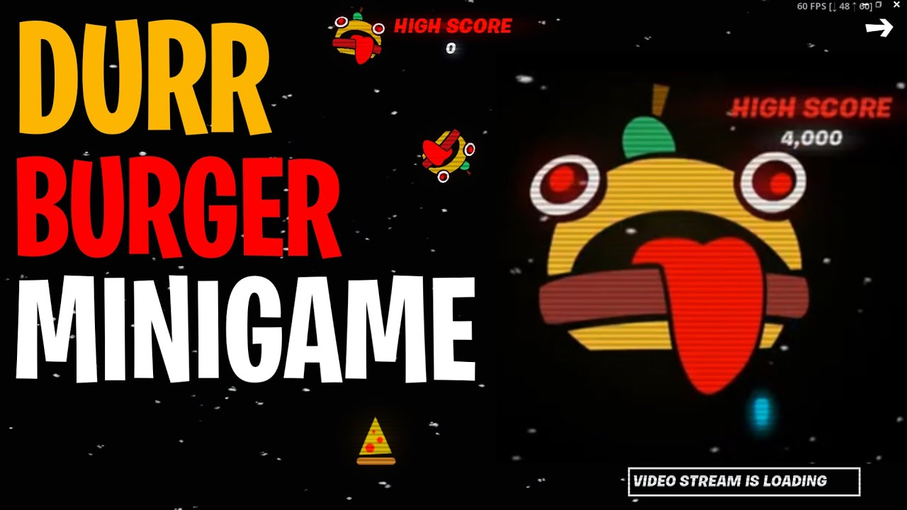 Fortnite Durr Burger Space Invader Minigame How To Play High Score