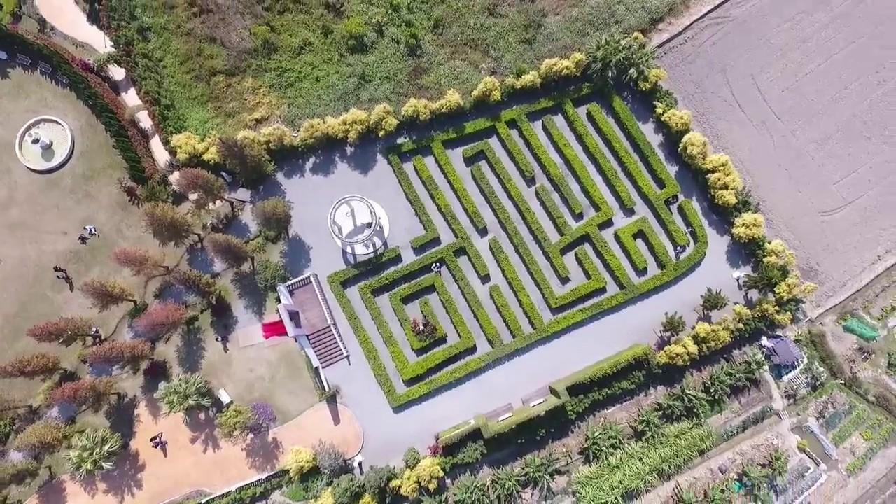 響。生活 DJI Phantom 4 空拍 - 彰化和美 探索迷宮歐式花園 - YouTube