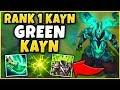 #1 KAYN WORLD *NEW* 1V9 GREEN KAYN (CHALLENGER KAYN BUILD) - League of Legends