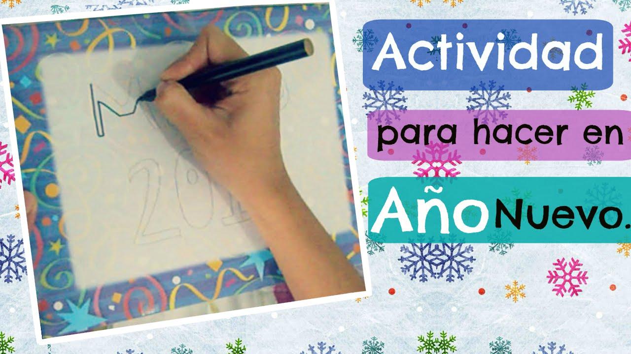 Actividad Para Hacer En La Fiesta De Ano Nuevo Youtube