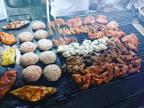 Charcoal Madhapur, Juicy Luicy, Burgers, Fried Chicken, Salmom Fish Burger, Famous Street Food