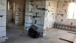 Обзор нашего дома из газобетона и участка.