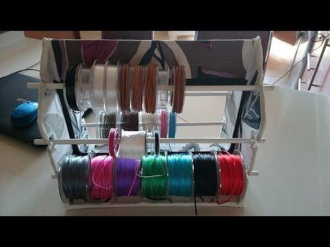 Tutorial para hacer un organizador de cintas cordones