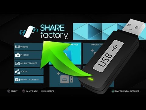 How to import videos from USB to PS4! Easy SHARE Factory Required!!!