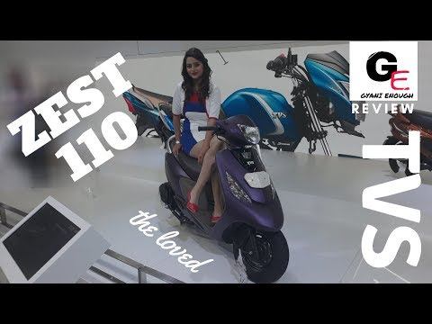 TVS Scooty Zest 110 2018 edition | detailed walkaround review | actual look !!!