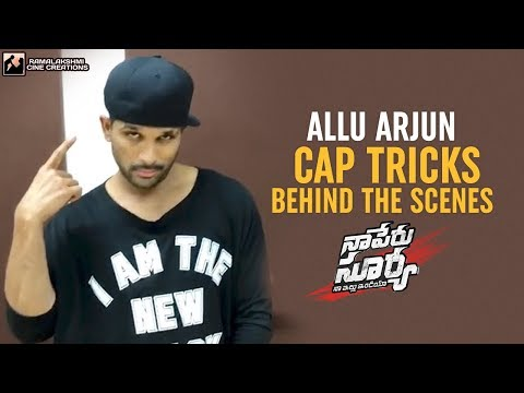 Allu Arjun Cap Tricks | Lover Also Fighter...