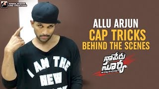 Allu Arjun Cap Tricks | Lover Also Fighter Also Song | Behind The Scenes | NSNI | #FlipItLikeSurya thumbnail