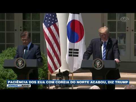 Trump diz que paciência com a Coreia do Norte acabou