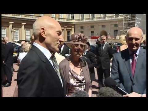 British acting legend Patrick Stewart knighted