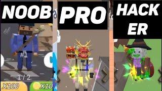 NOOB vs PRO vs HACKER in Hide.io screenshot 2