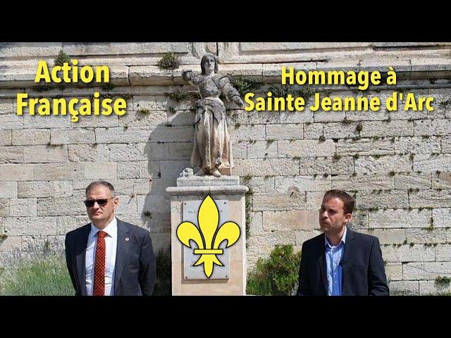 Hommage à Sainte Jeanne d'Arc à Avignon par l'Action Française et Yvan Benedetti
