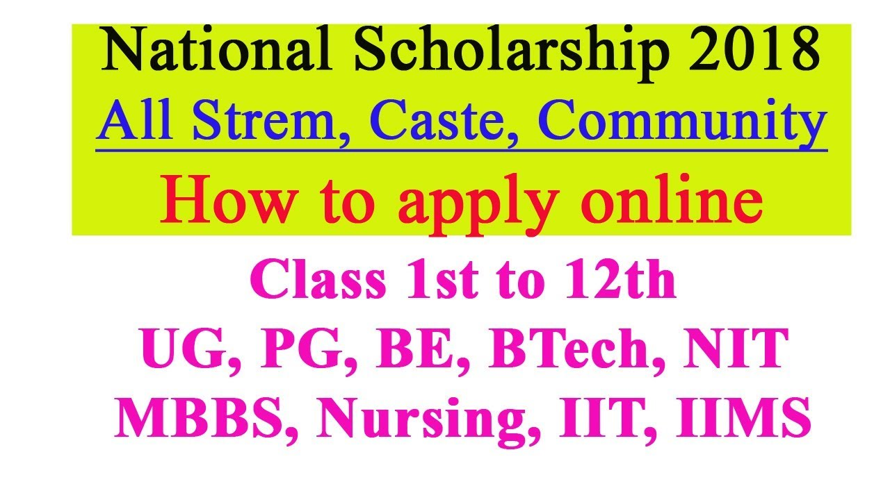 How To Apply And Get National Scholarship Ugc Scholarship For