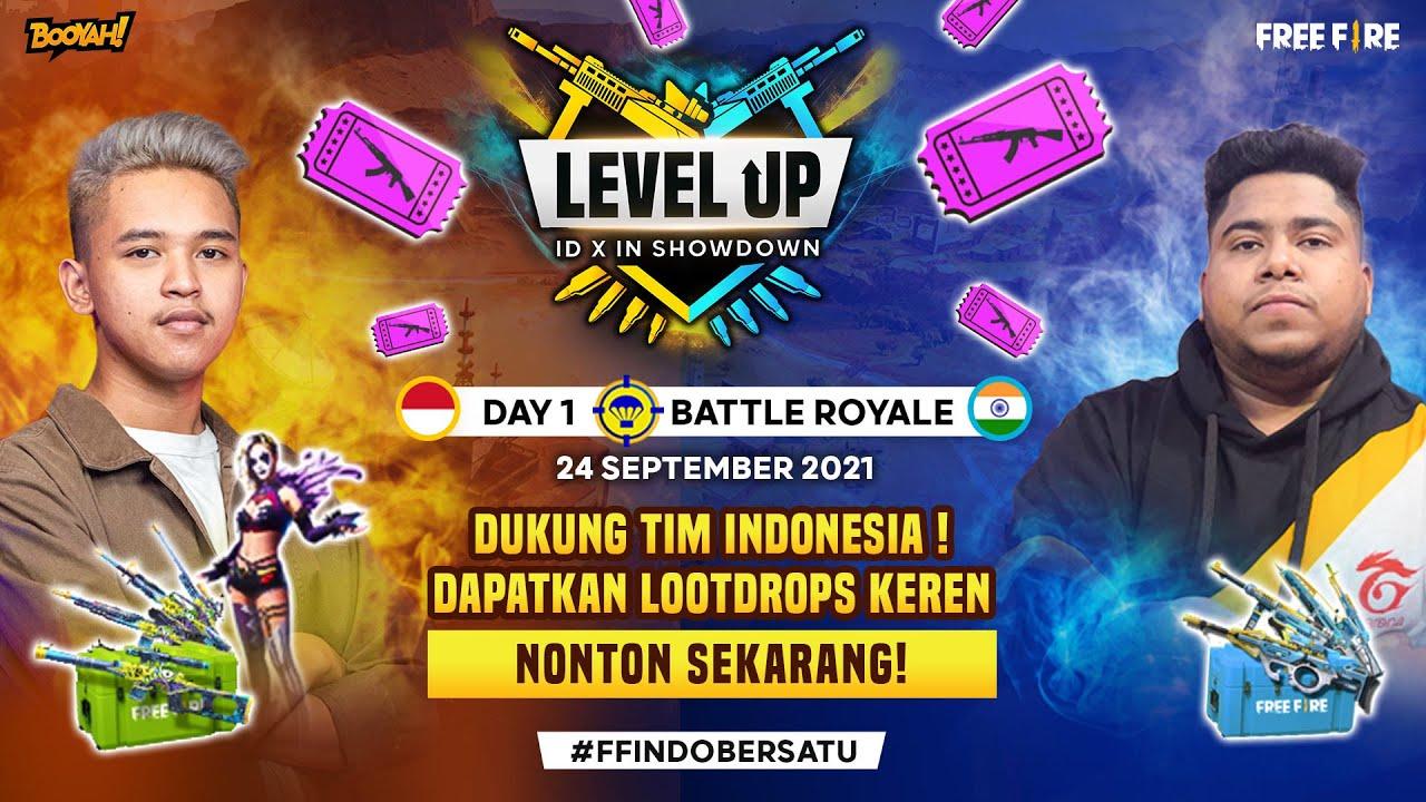 LEVEL UP-BOOYAH!INDONESIA VS INDIA DAY 1 Match | Kolaborasi BOOYAH!LIVExGarena Free Fire Indonesia