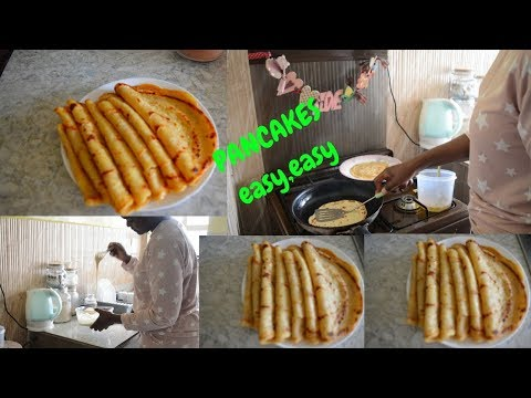Kenyan easy pancakes for breakfast:African