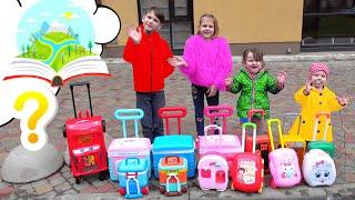 Five Kids Suitcases Song Nursery Rhymes