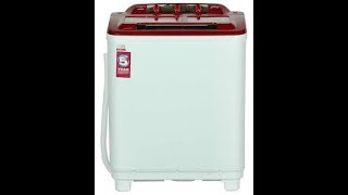 How to wash clothes in Godrej semi automatic washing machine Demo