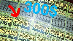 Full book of TN lottery tickets! 20$ millionaire jumbo bucks