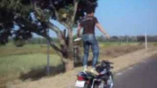 india bike stunt -Bhalki Dist. Bidar (Karnataka) India