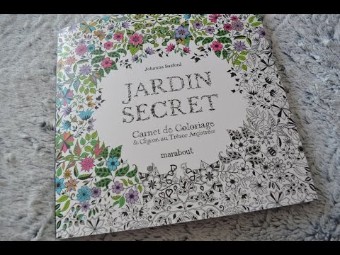 coloriage jardin secret carnet de coloriage chasse au tr sor antistress youtube. Black Bedroom Furniture Sets. Home Design Ideas