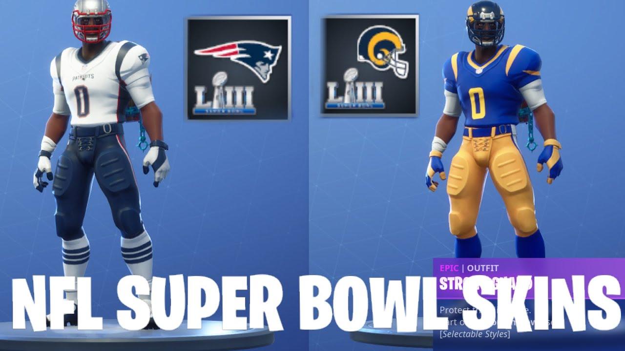 Download NEW NFL SUPER  BOWL 2019 FORTNITE SKINS!!!