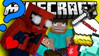 If spiderman played minecraft (Minecraft Machinima)