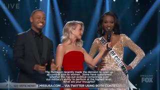 Miss USA 2016 Gives A Powerful Answer For Women In Military