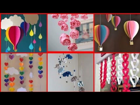 Roof hanging decoration ideas || home and classroom decoration || art and craft