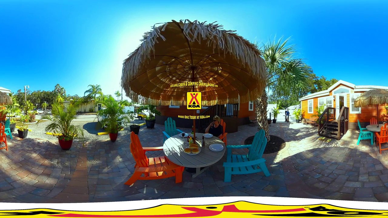 360° View Of KOA Deluxe Cabins And Camping Cabins