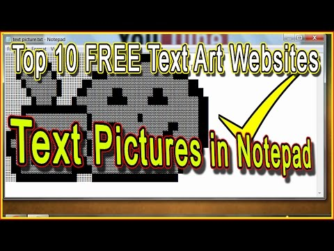How To Save Text Arts(pictures) In Notepad | Top 10 Text Art Websites | Notepad Trick