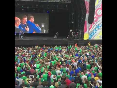 Northern Ireland Team arrive at Belfast fanzone - Homecoming event