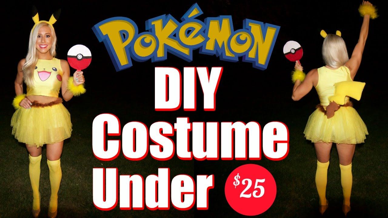 pikachu womens diy costume for under 25 youtube - Pikachu Halloween Costume Women