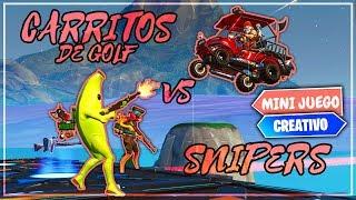 NUEVO *SNIPER VS CARRITO DE GOLF* - FORTNITE (MINIJUEGO TEMPORADA 8)