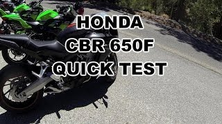 Honda CBR650F Quick Test