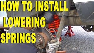 How to Install Lowering Springs DIY