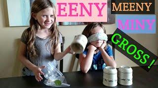 Emma & Elise Food Cup Challenge. Eeny, Meeny, Miny, GROSS!!