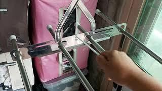 베란다 빨래건조대 줄교환 간단한 교체법 빨래줄교환 천원…