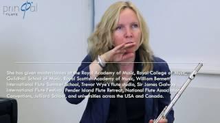 Видео урок Лорны МакГни, первой флейты симф.орк. Питсбург, США