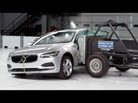 2018 Volvo S90 Side IIHS Crash Test